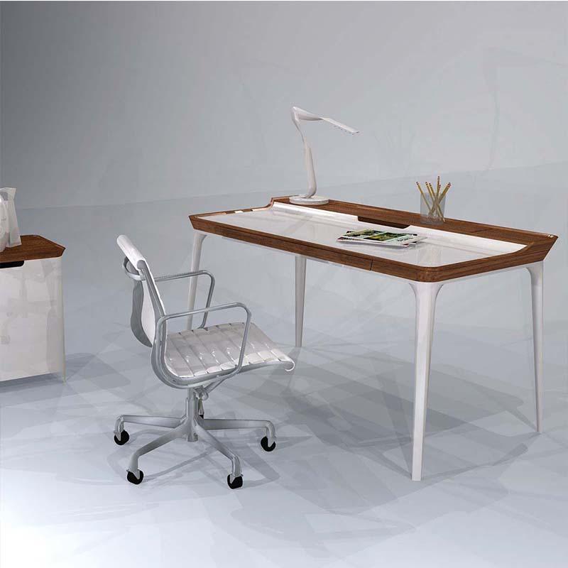 创意书桌airia desk胡桃木电脑桌实木电脑桌写字桌北欧经典书桌