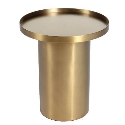 土豪金茶角几Ostfold Side Table 简约现代不锈钢组合拉丝黄铜颜色定制