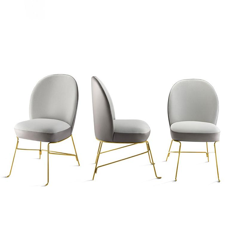 金色西餐厅椅Beetley Chair Metal Legs创意时尚休闲酒店样板房椅