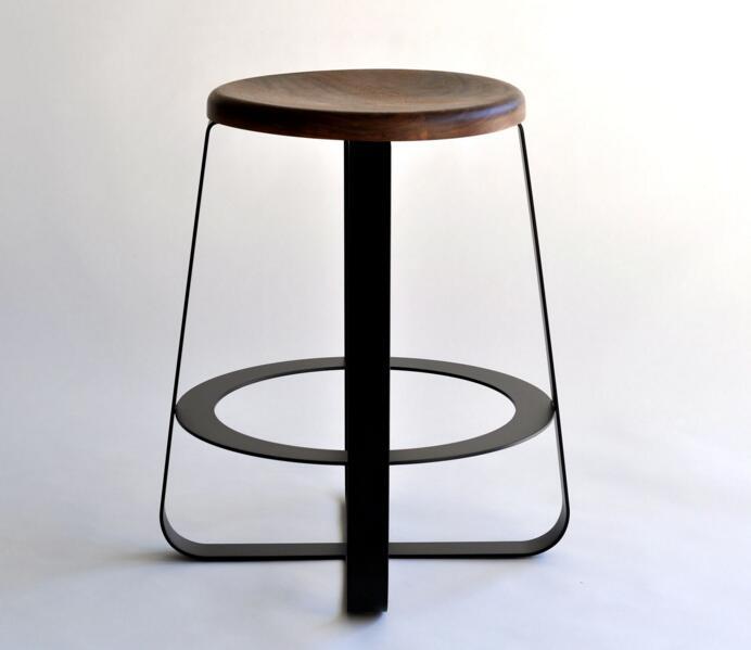北欧简约圆凳吧椅 Primi counter stool中式样板房设计感五金实木面简约椅