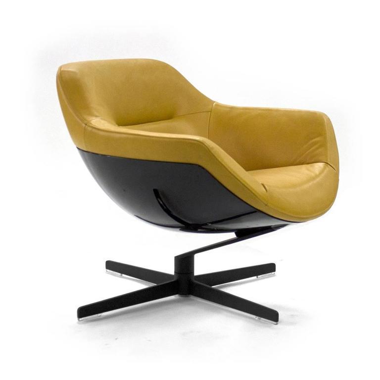 玻璃钢办公椅老板椅Cassina Auckland Swivel洽谈椅北欧设计师样板房酒店