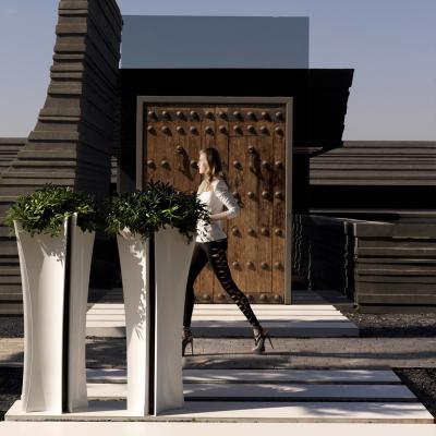 花器 室内花盆 户外花盆 花器玻璃钢花器 高端艺术品 黑白高雅线条设计