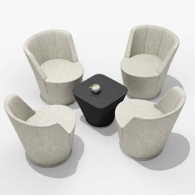 北欧布艺休闲椅沙发扶手椅 酒店会所洽谈椅会客椅接待椅