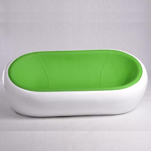 落地时尚玻璃钢情侣休闲沙发 白色半圆球休闲椅 双人休闲阳台椅