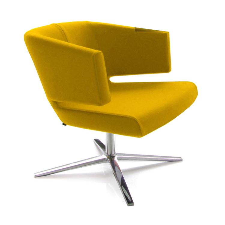 lotus lounge chair玻璃钢休闲椅接待椅会议椅金属脚餐厅椅定制软