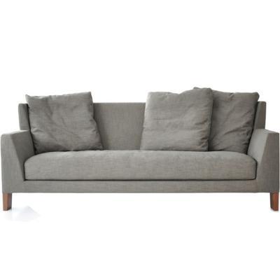 中式 morgan sofa 简约现代布艺沙发三人位沙发北欧棉麻 客厅书房沙发
