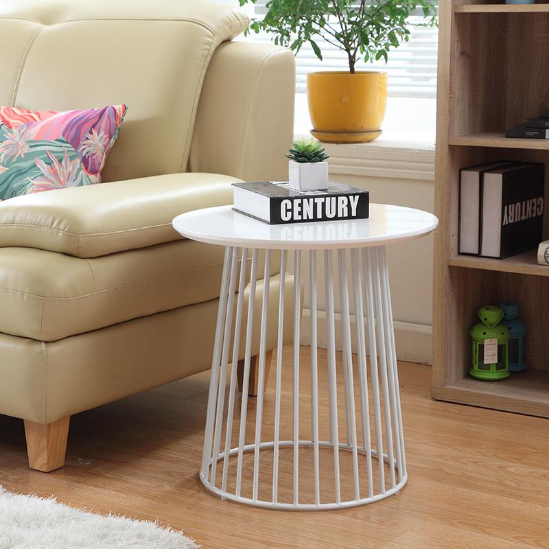 现代创意简约美式不锈钢 沙发柜移动小茶边桌黄色角边几家具定制