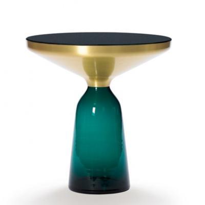 茶几彩色 边几 样板房茶几 卧室 个性彩色创意小圆几 玻璃+金属+玻璃桌面