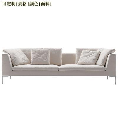 高端定制现代北欧 转角布艺一字形 L形 简约现代布艺沙发软体定制