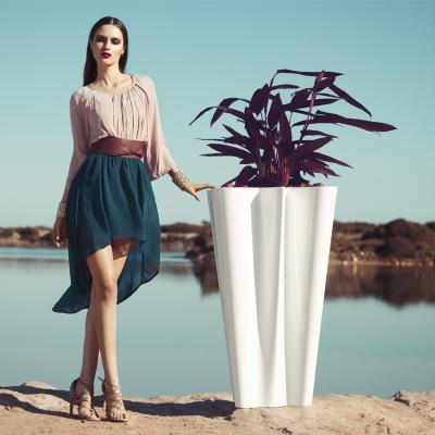 时尚玻璃钢花盆花器 规格颜色可定制 高端家具 高品质 质量第一  家用商用家具设计