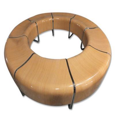 个性创意休闲圆形椅 现代时尚商场休息椅 户外公园多人座椅