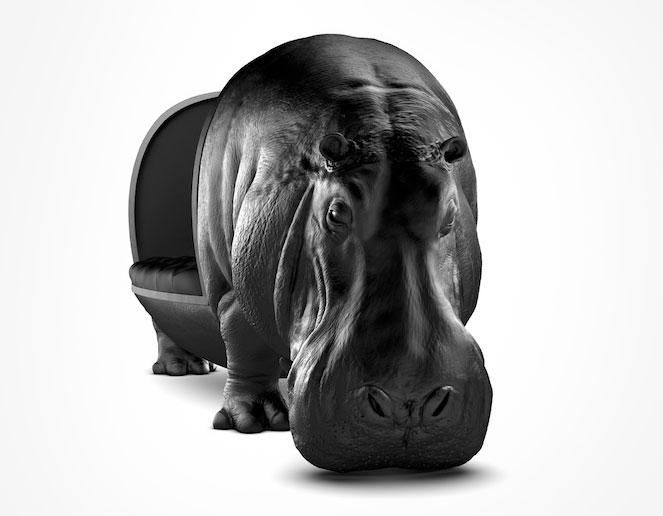 Hippo chair河马动物椅 设计师玻璃钢家具会所D雕塑沙发 Maximo Riera