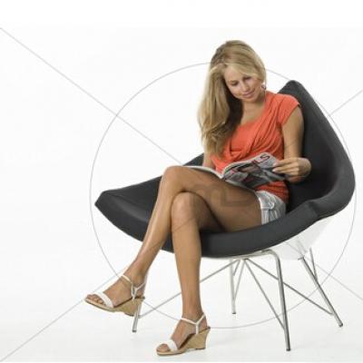 玻璃钢休闲椅椰子椅Coconut Chair乔治.尼尔森George Nelson设计