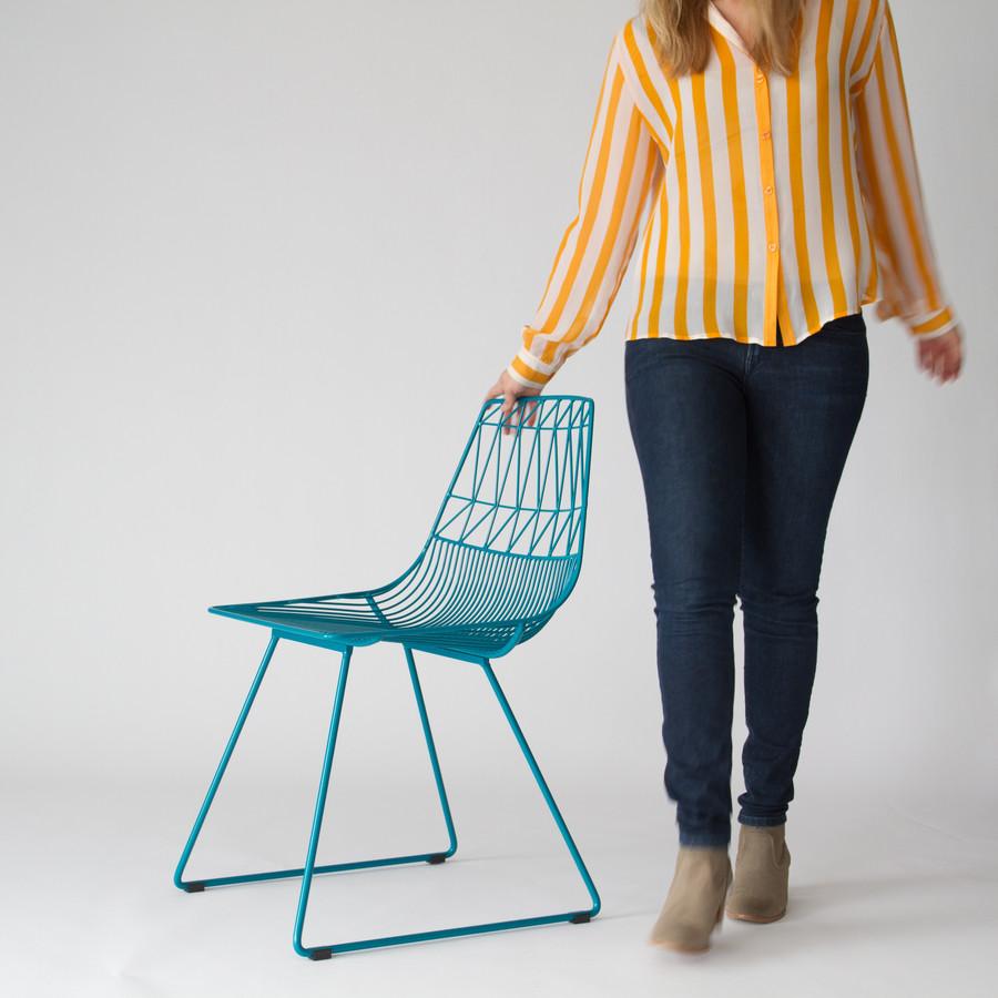 BEND LUCY CHAIR 露西椅 铁线不锈钢餐椅 户外网格休息椅