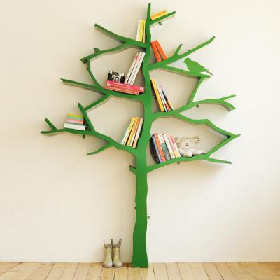 书架小孩书架树型书架小孩树