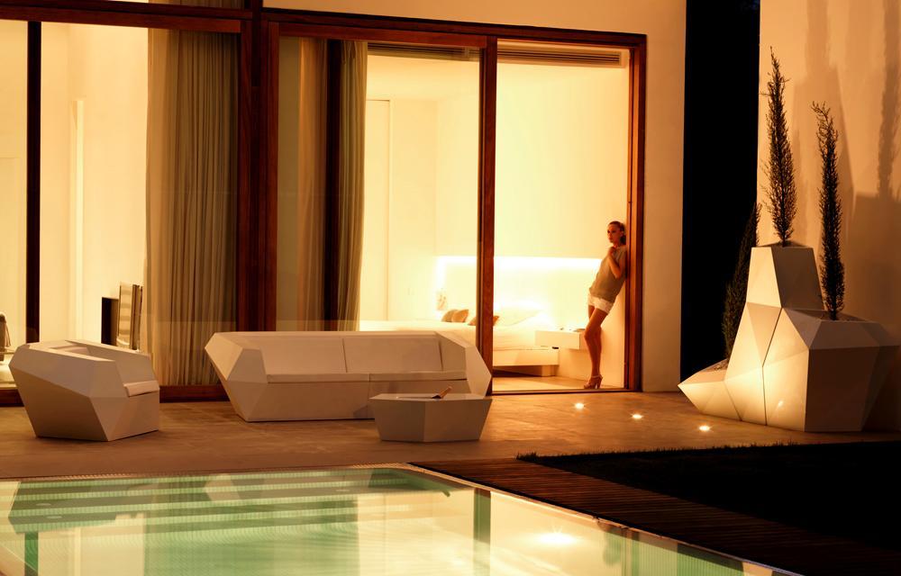 组合沙发单人多人 任意组合 菱形温顿沙发  玻璃钢时尚白色方块 酒店会所户外家具