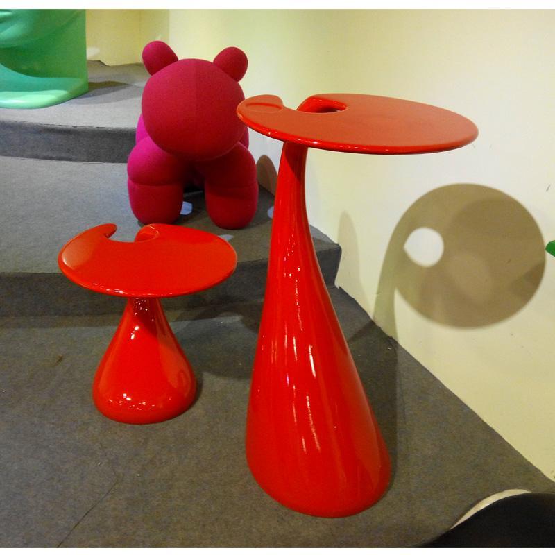 新款创意时尚泪珠小型茶几 单人茶几 高脚个性洽谈桌 卧室阅读桌