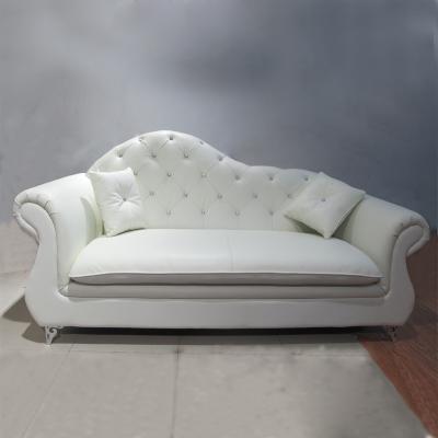 新古典现代布艺贵妃沙发 婚店酒店售楼处接待沙发座椅 客厅沙发
