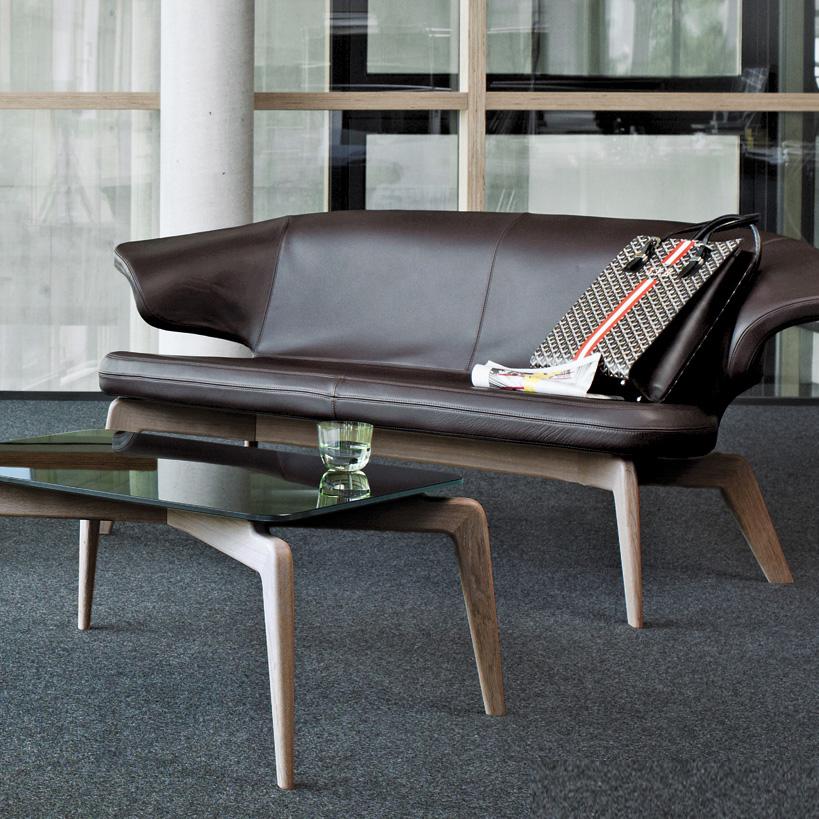 慕尼黑真皮沙发Munich Sofa ClassiCon  经典北欧实木办公异型沙发