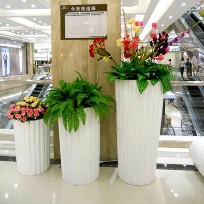 简约时尚白色花瓶 客厅花瓶 商场酒店摆件 景区时尚摆件