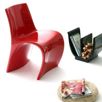 简约个性字母H型桌椅 玻璃钢拱桥椅 创意休闲椅 酒店 家用餐椅