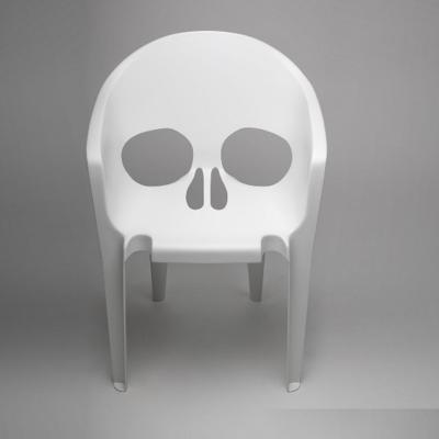 STQTVM Chair 玻璃钢餐椅 脸孔脸谱椅 个性四孔骷髅椅 头骨椅白色