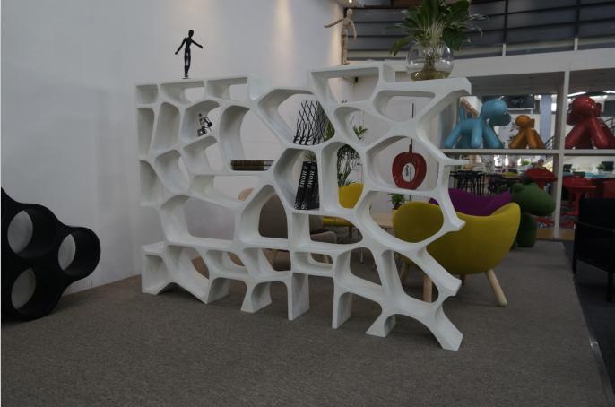 新款现代简约商场造型架 家用置物架书架 办公室展厅台展柜书架