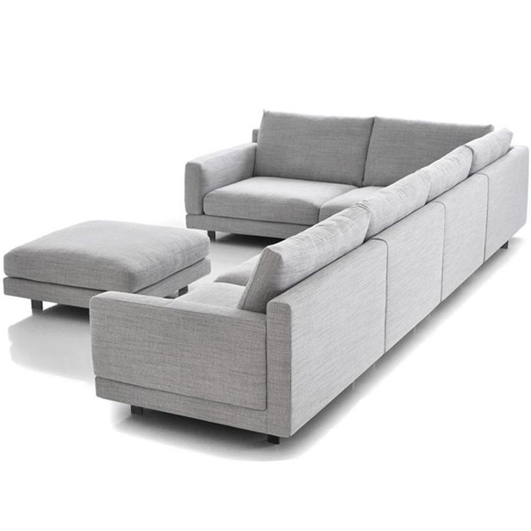 北欧布艺沙发组合现代简约北欧美式布沙发小户型三人沙发客厅转角