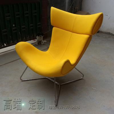 实物现货黄色布艺玻璃钢内架躺椅午睡椅老板椅酒店大厅会客展厅伊莫拉休闲