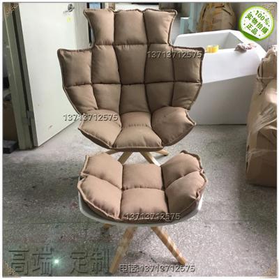 实物稻壳椅 肌肉椅 玻璃钢休闲椅时尚设计师椅北欧休闲椅北欧美简约