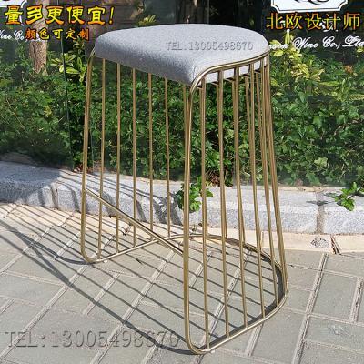 实物酒吧吧台凳吧椅设计师 新娘面纱吧凳不锈钢脚酒店咖啡椅KTV餐厅