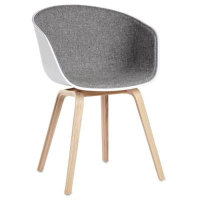 灰色布艺款餐椅HAY半包 丹麦扶手椅AAC21 休闲椅 Hee Welling