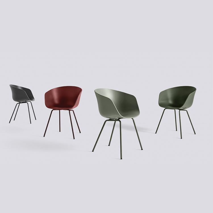 丹麦HAY铁脚单椅AAC26多色椅休闲椅北欧现代简约椅子餐椅