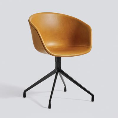 丹麦HAY全包旋转扶手椅AAC21皮质旋转椅布面旋转椅餐椅休闲椅