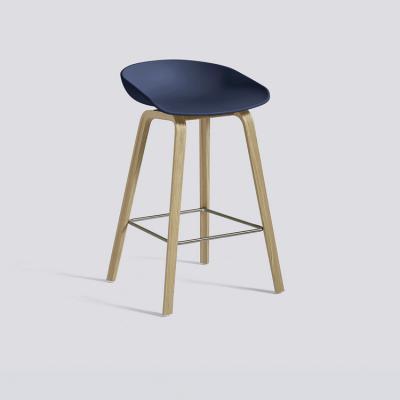 漆面款丹麦HAY木质高脚凳AAS 32凳子多色塑料吧台凳高凳正品北欧风