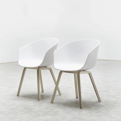 漆面款丹麦HAY椅子AAC22多色木质椅子chair餐椅塑料木脚扶手椅