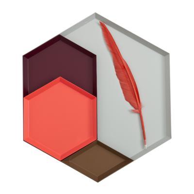 丹麦多边形彩色金属托盘hay盘北欧家居盘子碟 多彩置物区盘子
