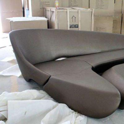 实物玻璃钢沙发 moon sofa system扎哈月亮沙发 酒店图片
