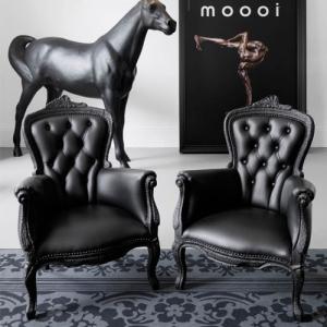 烟椅Smoke 單人沙發Maarten Baas moooi 实木躺椅单人椅高贵皇家家具