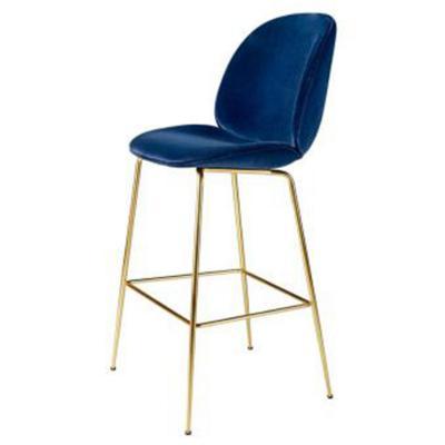 金色脚吧椅 时尚创意高吧椅 丹麦设计师酒吧凳 304不锈钢电镀 黑 白 金 银色