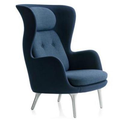 冷色款扶手椅简约北欧经典休闲椅稻壳主人椅 宜家定制 母婴美容会所酒店促销家具