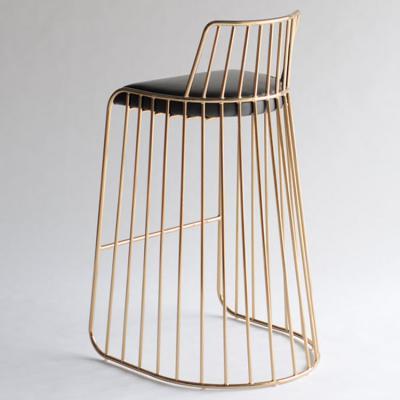 304不锈钢 电镀 黑 白 金 银色 北欧复古新娘吧椅 轻奢经典不锈钢现代简约吧凳