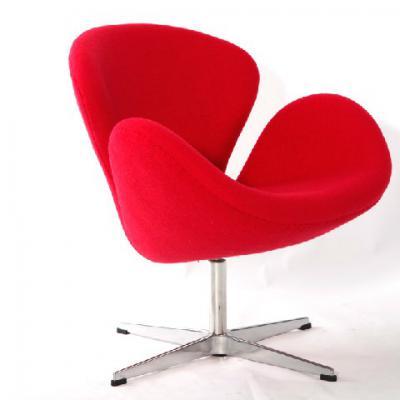 布艺版天鹅椅wan Chair雅各布森Arne Jocabsen丹麦设计师会议接待