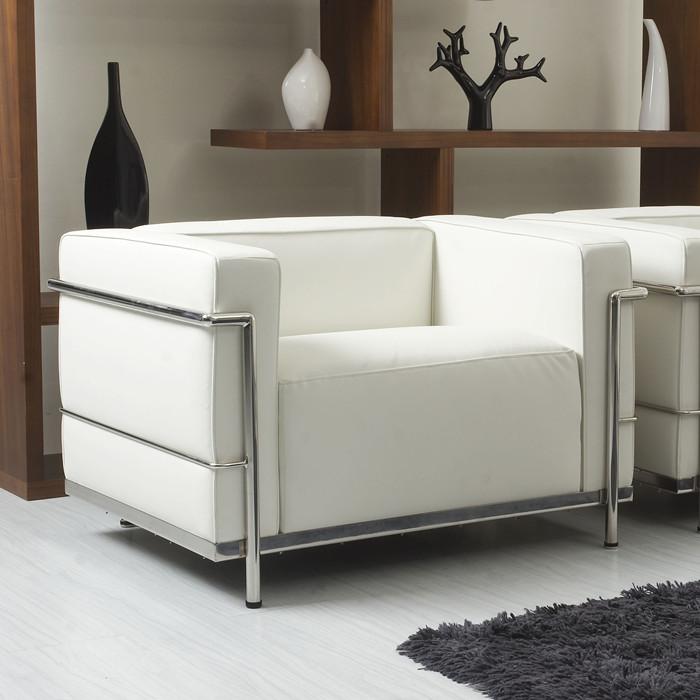 Le办公室Corbusier Sofa单人位接待会议谈宾馆大厅酒店休闲沙发