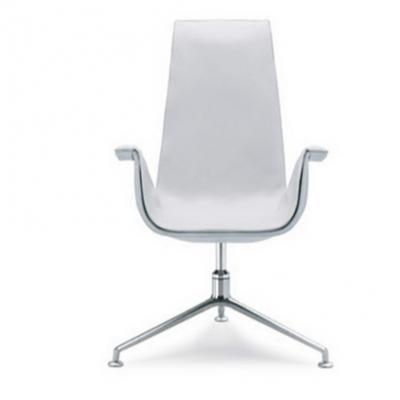 办公椅大班椅职员玻璃钢家具天鹅椅经典复古皮办公高端椅北欧地产