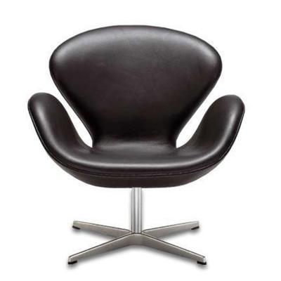 皮质 咖啡椅 创意椅子设计 椅现代椅SWAN CHAIR 天鹅椅 Arne Jacobsen