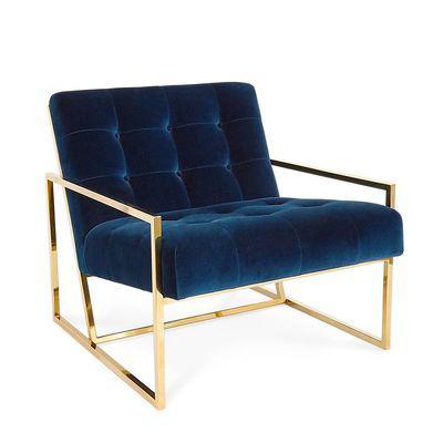 美容美甲北欧风情绒高端沙发  现代奢华电镀金单人 护肤养生美发