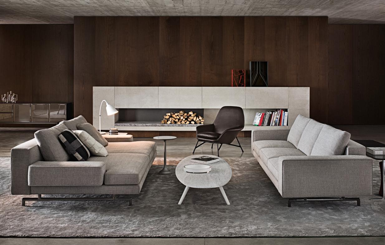 奢侈品 简约 Minotti SHERMAN 沙发 面料规格颜色可定制 高端家具