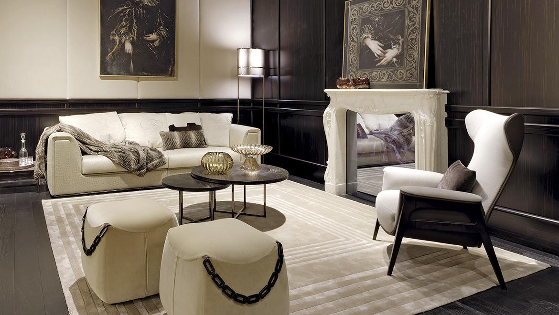 购物袋子链条椅子FENDI CAT脚凳 全球高端家具定制 个性设计 可定制 高端家具