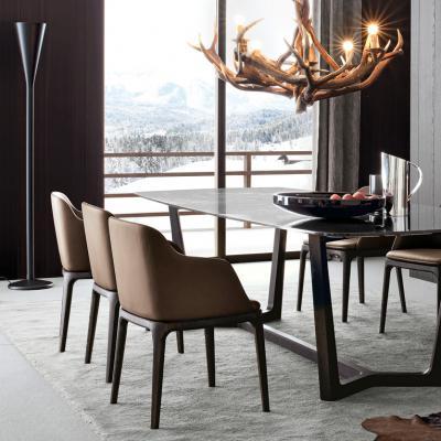 奢侈品家居 现代简约 Poliform Concorde 桌子Table 地产样品房 家用商用家具设计